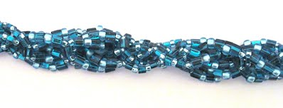 Bracelet made from round and triangle Toho beads
