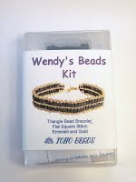 Emerald and Gold Toho bead bracelet boxed kit