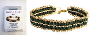 Wendy's Beads Kit - Emerald and Green Toho Beads Bracelet